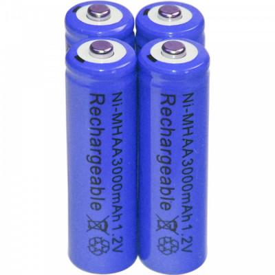 Baterii reincarcabile AA, 3000mAh, 1,2V, acumulatori AA, culoare mov foto