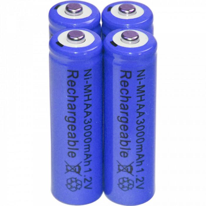 Baterii reincarcabile AA, 3000mAh, 1,2V, acumulatori AA, culoare mov