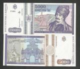 ROMANIA  5000  5.000  LEI  1993  [1]  P-104 ,  a  UNC , necirculata