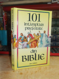 URA MILLER - 101 INTAMPLARI PREFERATE DIN BIBLIE , ILUSTRATII , 1994