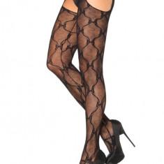 Ciorapi Decupati, Model Cu Fundite, Negru - Marime Universala