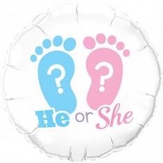 Balon gender reveal He or She ? din folie 45 cm foto