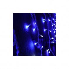 Instalatie de Craciun 4,5 m x 0.7 m, Perdea Franjurata, Albastru, 144 leduri, SDX, 6004B