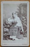 Foto Mandy pe carton , Bucuresti , costum popular , secol 19 , 2