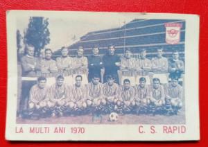 Lot 2 calendare fotbal Rapid Bucuresti 1970 1975 + Locomotiva