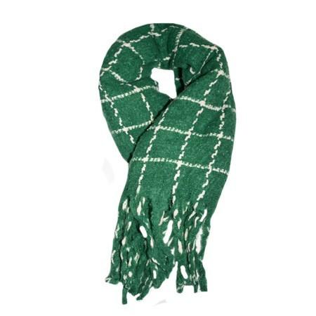 Fular dama Dalma ,model cu patratele,verde