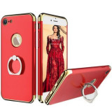 Husa telefon Iphone 7 ofera protectie 3in1 Ultrasubtire - Lux Red S Ring