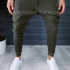 Pantaloni de trening kaki conici 18218