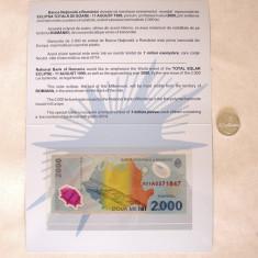 ECLIPSA BANCNOTA SI MONEDA 2000 SI 500 LEI 1999  UNC