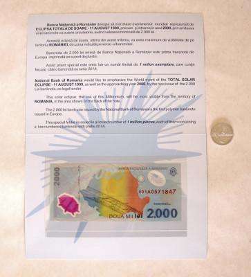 ECLIPSA BANCNOTA SI MONEDA 2000 SI 500 LEI 1999  UNC foto