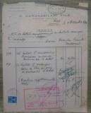Factura marfuri Grecia/ Vama Constanta, 1936