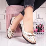 Pantofi dama cu platforma bej Golisia