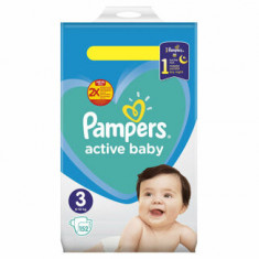Scutece Pampers Active Baby Midi 3 Mega Box, 6-10 kg, 152 buc