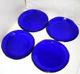 Cumpara ieftin Farfurii cristal royal cobalt suflate manual liber, set 4 buc. - Bergdala Suedia