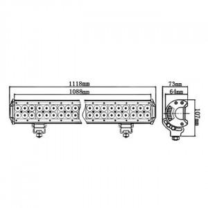 Bara proiectoare LED Auto Offroad 324W/12V-24V, 27540 Lumeni, 50″/127 cm, Combo Beam 12/60 Grade cu Leduri CREE XBD