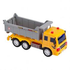 Camion interactiv de jucarie, model basculanta, galben, 28x9x19 cm