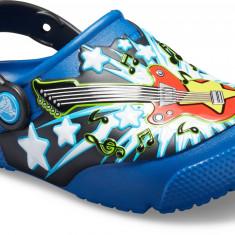 Saboți Copii casual Crocs Crocs Fun Lab Guitar Lights Clog