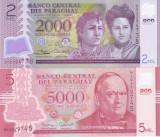 Bancnota Paraguay 2.000 si 5.000 Guaranies 2016/17 - P228/234 UNC ( polimer x2 )