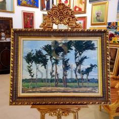 """TABLOU, Rodica Maniu Mützner (1892 – 1958), """"Copaci"""", u/c, 47,5 x 67,5 cm - Rodica Maniu Mutzner"""