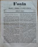 Foaia pentru minte , inima si literatura , nr. 2 , 1862 , Brasov , I. Muresanu