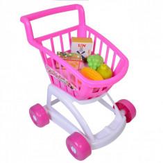 Carucior de jucarie cu accesorii,, roz/alb