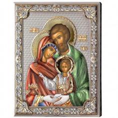 Icoana Argint Sfanta Familie 16x20cm Color Cod Produs 2780