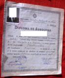 Diploma absolvire scoala profesionala RPR