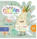 Cumpara ieftin Portia de culoare - fructe si legume - carte de colorat cu rime/Lavinia Trifan