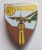 Insigna BTT Biroul de Turism pentru Tineret 1970