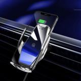 Suport Auto Cu Incarcator Wireless iPhone Samsung Huawei Negru