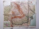 Harta fizica a Romaniei perioada interbelica