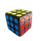 Cub Rubik 3x3x3 Yumo Dots candy Color speed cube smooth, Black