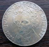 (A14) MONEDA DIN ARGINT AUSTRIA - 100 SCHILLING 1976, JOHANN NESTROY 1801-1862, Europa
