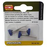 Cumpara ieftin Set biaxuri din corindon in forma de disc de Micromot Proxxon PRXN28783, O13mm, 3 bucati