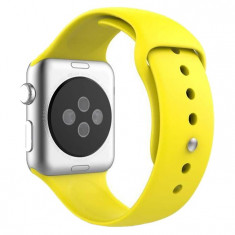 Curea pentru Apple Watch 42 mm Silicon iUni Yellow