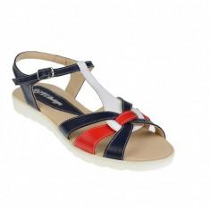 Sandale dama din piele naturala cu platforme joase - S51BLAR