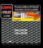 Plasa grila spoiler Racing Negru - Small 2x4 mm - 120x20 cm - CRD-LAM04597 Auto Lux Edition