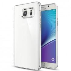 Husa SAMSUNG Galaxy Note 5 - Jelly Clear (Transparent) Anti-Ingalbenire