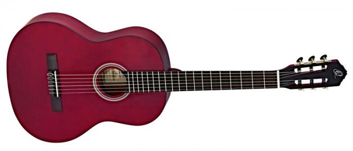 Chitara clasica Ortega RST5MWR Satin Wine Red