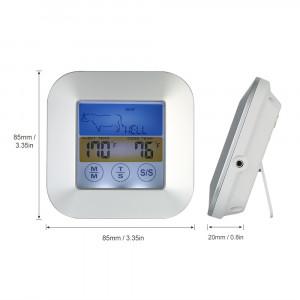 Termometru digital cu sonda bucatarie, touchscreen, lcd iluminat, temporizator