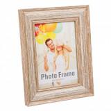 Rama foto clasica, 20,5×25 cm, material plastic, maro