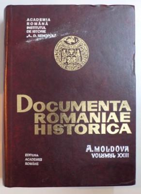 DOCUMENTA ROMANIAE HISTORICA , A. MOLDOVA , VOLUMUL XXIII (1635-1636) , 1996 foto