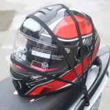 Plasa Casca Portbagaj Moto Scuter ATV - 40 x 40cm ( rosu )