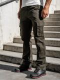 Cumpara ieftin Pantaloni cargo cu curea verzi Bolf 1679