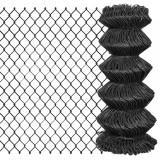 Gard plasă de sârmă, gri, 15 x 0,8 m, oțel, vidaXL