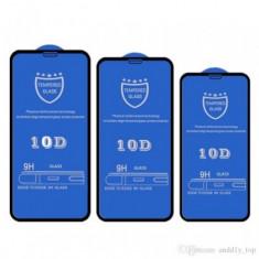 Folie Protectie ecran antisoc , Full Glue , Samsung J510 Galaxy J5 2016 , Tempered Glass 10D , Full Face , Neagra Bulk