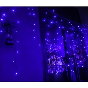 Instalatie de Craciun Premium Flippy® Tip Franjuri cu Joc de Lumini 8 m 360 LED-uri Albastru 2109B Interconectabila