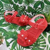 Cumpara ieftin Sandale rosii elegante cu fluturasi pt fetite 25 26 27 28 29 30, Fete