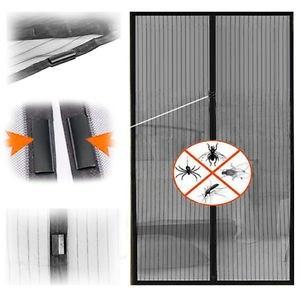 Plasa tantari Perdea Anti Insecte Tantari cu Magneti 200x100cm Magic Mesh negru
