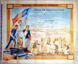 Regalitate-DIPLOMA REGALISTA-Titlu de Proprietate-1945-brevet-document